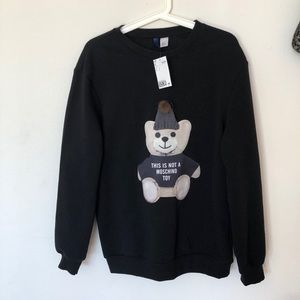 H&M sweatshirt with moschino bear